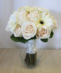 Roses & Gerbera daisies bridal bouquet