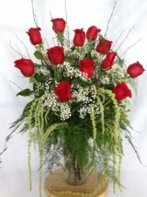 Roses Gone Wild! Deluxe Rose Arrangement