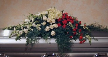 Roses, Hydrangeas & Carnations Casket Spray