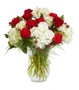 ROSES & HYDRANGEAS&PEARLS All Around Rose Arrangement