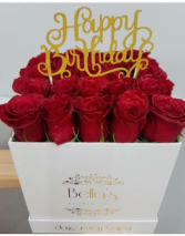 Roses In a Box Happy Birthday