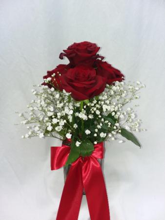 Roses in a Cloud Vase
