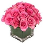 B 10-Roses in a compact vase arrangement (Also available in other colors)