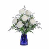 Roses in Blue Arrangement