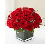Roses in Square vase Same Day Rose Delivery