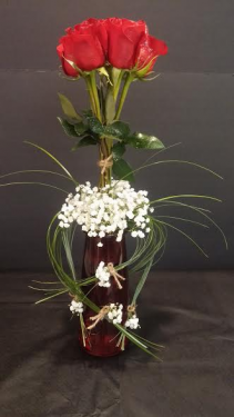 ROSES IN THE SNOW VASE ARRANGEMENT