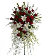 Roses & Lilies Tribute Spray Sympathy