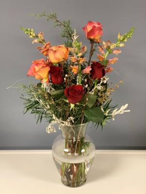 Roses Love Local! Vase Arrangement in Hardwick, VT | THE FLOWER BASKET