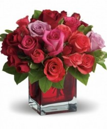 Roses Modern Red Cube