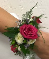 Roses, Mums, Berries Corsage