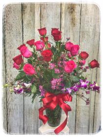 ROSES ON PARADE Spring Arrangement