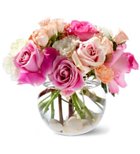 Roses on the Rocks Arrangement