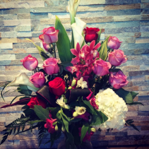 Roses & Orchids  Vase arrangement