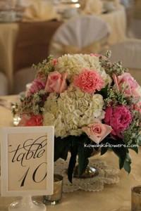 Roses, Peonies & Hygrangeas Reception Centerpieces
