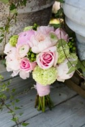 Roses, Peony, Green Hydrangea