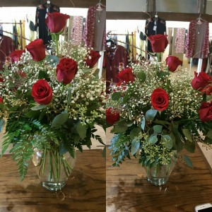 Roses red Vase in Mount Vernon, TX | GLAMMIEZ BOUTIQUE & FLORAL