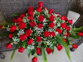 Roses roses roses Casket spray
