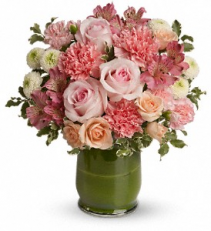 Roses & Smiles One Sided Arrangement