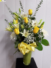 Roses-Special Thoughts please order 1 week ahead to ensure yellow roses are in the cooler for you.