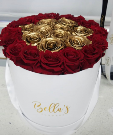 Roses that last a year red and gold