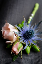 ROSES & THISTLE BOUTONNIERE