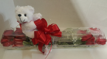 Roses w/Teddy Bear