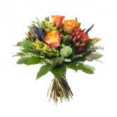 Roses/Hypernicum/Veronica Bouquet