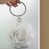 Roset Clutch Wedding White Wedding Accessories