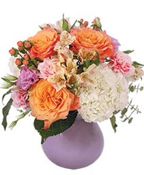 Rosey Dawn Floral Arrangement