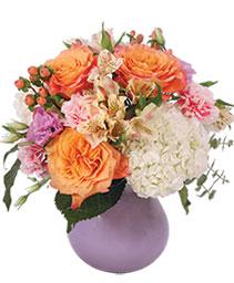 Rosey Dawn Floral Arrangement