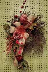 Rosey Harvest Fall SILK wreath