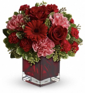 Rosy red Fresh arrangement