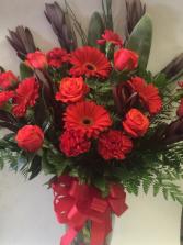 Rosey Red Vase Arrangement