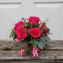 Rosey Romance Pink Half Dozen Roses