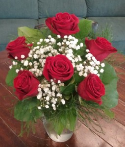 Rosey Romance Red Rose Bouquet in Bluffton, SC | BERKELEY FLOWERS & GIFTS