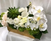 (white & cream flowers rectangular)