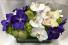 Centerpiece (white & purple) Rosh Hashanah (white & cream)