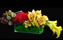 Rosh Hashanah (yellow orchids & calla)