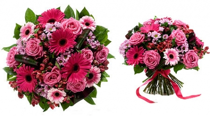 Rosie Pink Bouquet Hand Tied Bouquet
