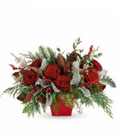 Rosy and Pine Floral Arrabgement