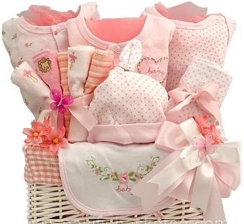 ROSY CHEEKS BABY GIRL GIFT BASKET in
