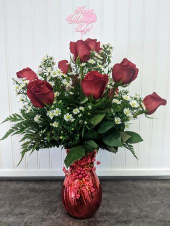 Rosy Elegance Dozen Roses