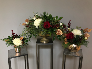 Rosy Gold Holiday  in Northfield, MN | JUDY'S FLORAL DESIGN STUDIO
