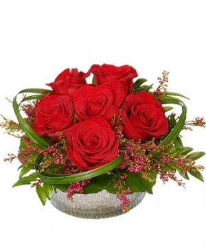 Rosy Red Posy Floral Design in Storrs, CT | THE FLOWER POT