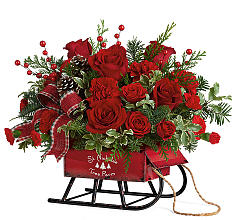 rosy-sleigh christmas in Paradise, NL | PARADISE FLOWERS & GIFTS