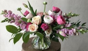 Rosy  Vase Arrangement in Toronto, ON | BOTANY FLORAL STUDIO