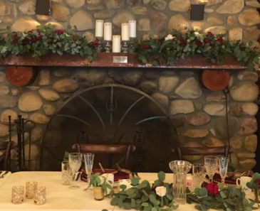 Rotary House Mantel Reception Flowers