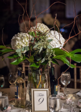 Rotary House Table arrangement  Reception Flowers