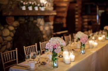 Rotary House Table & Mantel  Reception Flowers