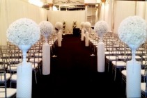 Kissing Balls (Flowers and Columns) Wedding Flowers